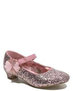 Mid Heel Glitter Shoes