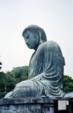 The Great Buddha of Kamakura is a bronze statue of Amida Buddha, which stands on the grounds of Kotokuin Temple. With a height of 13.35 meters, it is the second tallest bronze Buddha statue in Japan. The statue was cast in 1252. I made my visit in 1987 and took this photo.