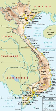 Vietnam Map, Vietnam Voyage, Vietnam Travel, Asia Travel, Laos, Vietnam Restaurant, Cold Treatment, World View, History Facts