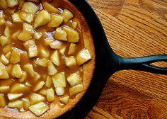 Cast Iron Cooking (Recipe: German Pancake with Caramel Apple Topping)