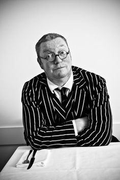 Fergus Henderson of St Johns wears the cloth of his trade.  - Post by John Alexander Skelton