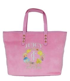 Juicy Couture Girl's Iconic Velour Pammy Tote No Juicy Couture ensemble is complete without a chic tote in signature velour.