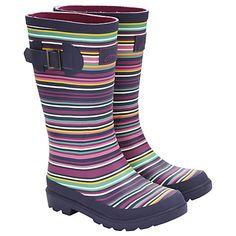 Little Joule Striped Wellington Boots