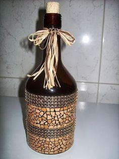 Artegg - artesanato com casca de ovo: Garrafas