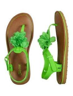 Sandalia verdes justice