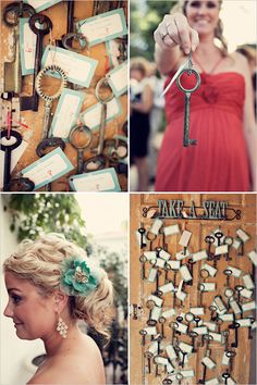vintage key wedding ideas. LOVE this seating chart idea