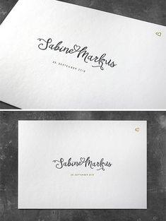 Letterpress Hochzeitseinladung mit Goldfolienprägung, Schöndruck Letterpress Wien Letterpress, Invites Wedding, Visit Cards, Invitation Cards, Typography, Letterpresses, Letterpress Printing, Emboss