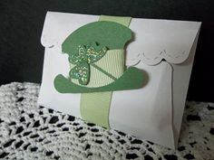 St Patty's Day favor Stampin' Up! Punch Art