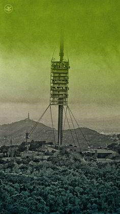 The Torre de #Collserola watches silently over #Barcelona.  www.julianluskin.com