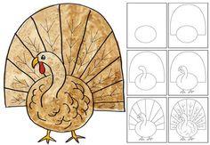 Comment dessiner une dinde   La cabane à idées