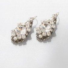 Kim Earrings- Meg Jewelry. Find @ De Ma Fille Bridal Boutique in Fort Worth, TX. Call 817.921.2964, www.demafille.com