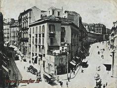 Napoli antica - Incrocio tra Santa Teresa degli Scalzi e via Salvator Rosa.... inizio '900