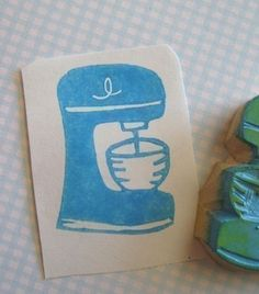 A stand mixer rubber stamp
