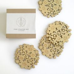 And for the more girly Outdoor Princess some fun wood cute flower coasters. $30