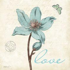 Touch of Blue IV (Love) Póster por Katie Pertiet en AllPosters.es  s