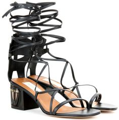 Shop a wide selection of Valentino brand clothing & accessories on Lyst. Black Leather Shoes, Leather And Lace, Leather Sandals, Real Leather, Black Shoes, Valentino Black, Valentino Shoes, Valentino Garavani, Shoes World