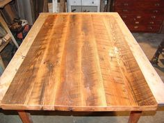 Distressed Antique Oak Top, this top was made from Loft Joists from a local Barn.