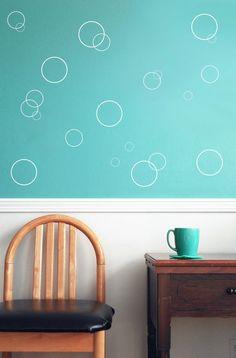 Vinyl dot Circle wall decals - bubble decals fish bubbles bathroom decal baby room wall decal & Vinyl dot Circle wall decals - bubble decals fish bubbles bathroom ...