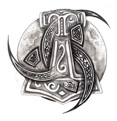 Thors Hammer and Celtic Tribal by zaphrozz.deviantart.com