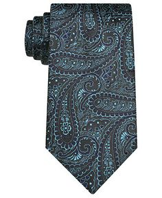Perry Ellis Tie, Marlston Paisley Skinny Tie - Mens Ties - Macy's