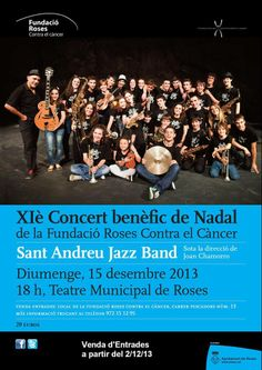 On Friday, December 15th, at 18:00 enjoy the Sant Andreu Jazz Band at the XI Benefit Christmass Concert for the Roses Against Cancer Fundation. Entry 20€. Buy your anticipated entry at the Roses Against Cancer Fundation (C/ Pescadors, 13). For more information check --> www.fundacioroses.org #concert #band #music #aRoses #InCostaBrava
