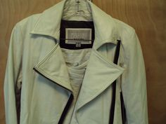 Wilsons Leather Ivory Sexy Leather SUIT Jacket & Mini Skirt sz S #WilsonLeather #SkirtSuit