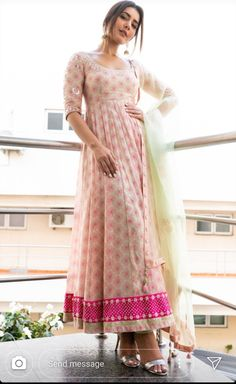 South Indian Celebs: 5 times Raashi stunned with her style game Indian Gowns Dresses, Indian Fashion Dresses, Dress Indian Style, Pakistani Dresses, Dresses Dresses, Long Dresses, Designer Anarkali Dresses, Designer Party Wear Dresses, Kurti Designs Party Wear