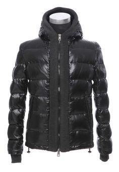 Moncler Canut Men Down Jacket in Black [2900409] - £188.49 :