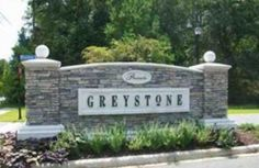 Find high quality, new construcution homes for sale in the Greystone subdivision of Tallahassee. Contact Realtor Debbie Kirkland to request a showing of a Greystone home for sale today! Front Gates, Entrance Gates, Entrance Ideas, Lawn And Landscape, Garden Landscape Design, Front Entry Landscaping, Entrance Signage, Monument Signs, Commercial Landscaping