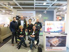 """Mit dem Team von Art & Design begleiteten wir die Möbelmesse für das SOS-Projekt """"Damit alle schöner wohnen!"""" — in Bielefeld. #Filmproduktion   #Videoproduktion   #Messe  #Art&Design"""