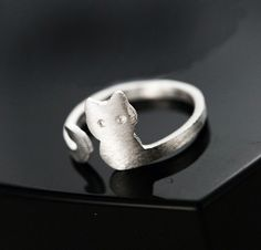 Cat Wrap Silver Ring - Cute Dose - 3 Take a look at the shop :) I want this one <3