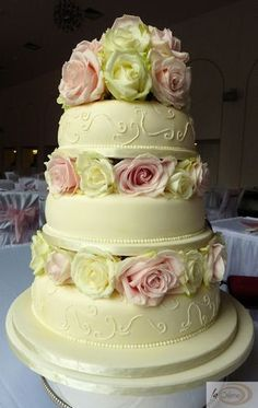 Walmart 3 Tier Wedding Cakes the cake is covered by soft sugar