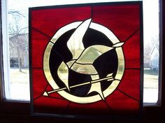 Hunger Games stained glass panel