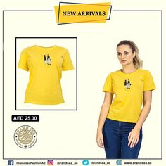 artistic half sleeve T shirt For Women- Shop Now in UAE.tops and tees are availabe at brandsea women online store. Online Shopping Uae, Half Sleeves, Dubai, Shop Now, Retail, T Shirts For Women, Store, Tees, Clothing