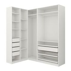 Closet Organizers 425168021070230907 - IKEA PAX Penderie d'angle Source by equinature Ikea Pax Corner Wardrobe, Corner Closet, Ikea Closet, Closet Shelves, Wardrobe Small Bedroom, Attic Wardrobe, Attic Closet, Bathroom Closet, Bedroom Closet Design
