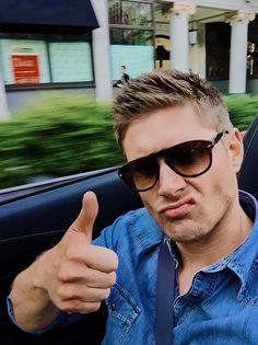 Sam E, Most Beautiful Man, Dean Winchester, Series Movies, Jensen Ackles, Mens Sunglasses, Handsome, Husband, Boys