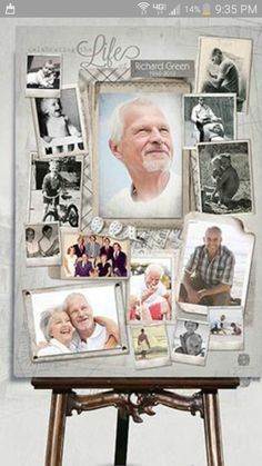 Simply select a Photo Collage Design, upload your photos and share the memories. Perfect for funeral tribute or gift. Funeral Memorial, Memorial Gifts, Memorial Ideas, Ideas For Memorial Service, Memorial Services, Ideas Collage, Collage Design, Funeral Gifts, Funeral Ideas