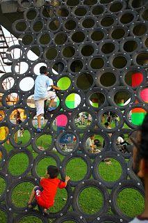 Autoparque de diversiones / Ghost Train Park - Archkids. Arquitectura para niños. Architecture for kids. Architecture for children.