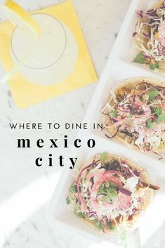 Mexico city is more than just tacos. There is a booming culinary scene that's hard to beat. Here are the best places to dine in Mexico City. #foodie #mexicocity #Travel