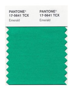 The color of the year for 2013 according to Pantone is Emerald. Their particular shade is a fairly bright medium green with more blue than yellow in its undertones.
