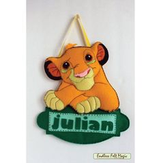 Shop for on Etsy, the place to express your creativity through the buying and selling of handmade and vintage goods. Lion King Crafts, Lion Baby Shower, Le Roi Lion, Name Banners, Disney Crafts, Baby Crafts, Name Signs, Fun Activities, Crafty