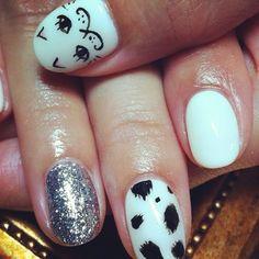 モフモフ #nails #nailart #cat #girly  (RUSCIA)