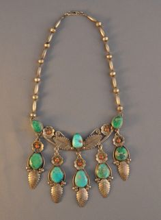 thursdayofravens: gwhitetrading vintage native necklace