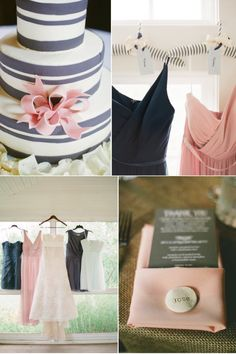Wedding Color Inspiration: Charcoal + Blush