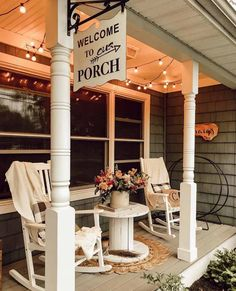 Welcome to porch! 👏 We bet a lot of sunsets are watched here and all of the of July fireworks. 🎆 ⁣ ⁣ ⁣ Yes, we can see it now with a fresh glass of iced tea. ⁣☺️😎⁣ ⁣ ⁣ TAG a friend who loves a good front porch Farmhouse Front Porches, Small Front Porches, Decks And Porches, Country Porches, Country Porch Decor, Country Western Decor, Summer Front Porches, Southern Porches, Summer Porch