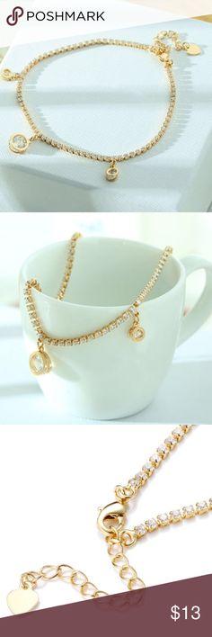 Gold Plated Bracelet Fashion Gold Plated Bracelet AAA Cubic Zircon Crystal. So beautiful  Jewelry Bracelets