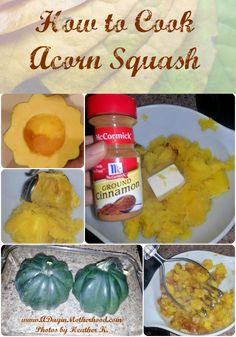 How to Cook Acorn Squash...I usually only use butter and a little pepper and don't put them upside down  put water in the pan  and cover them with foil.