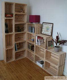 Diy Furniture Hacks, Crate Furniture, Cabin Furniture, Furniture Makeover, Room Ideas Bedroom, Home Bedroom, Room Decor, Regal Bad, Small Closet Storage