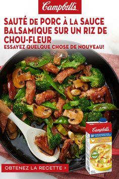 Pork Tenderloin Recipes, Pork Chop Recipes, Meat Recipes, Asian Recipes, Chicken Recipes, Cooking Recipes, Healthy Recipes, Campbells Soup Recipes, Pork Stir Fry