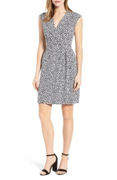 Free shipping and returns on Anne Klein Floral Print Draped Dress at Nordstrom.com. A surplice bodice gathered to an inset waist and a draped detail at the skirt create a flattering nipped-in silhouette for a sleeveless dress in a darling floral print.